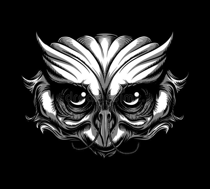 Tatouage de hibou illustration libre de droits