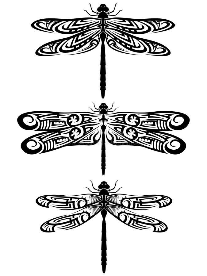 Tatouage de libellule illustration de vecteur