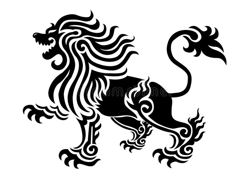 Tatouage de lion illustration libre de droits