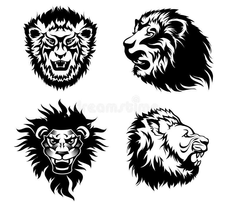 tatouage de lion de grognement illustration de vecteur illustration du t te graphisme 48628347. Black Bedroom Furniture Sets. Home Design Ideas