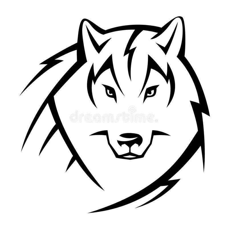 Tatouage de loup illustration de vecteur