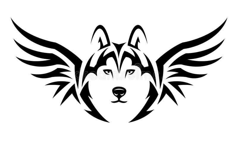 Tatouage de loup de vol illustration stock