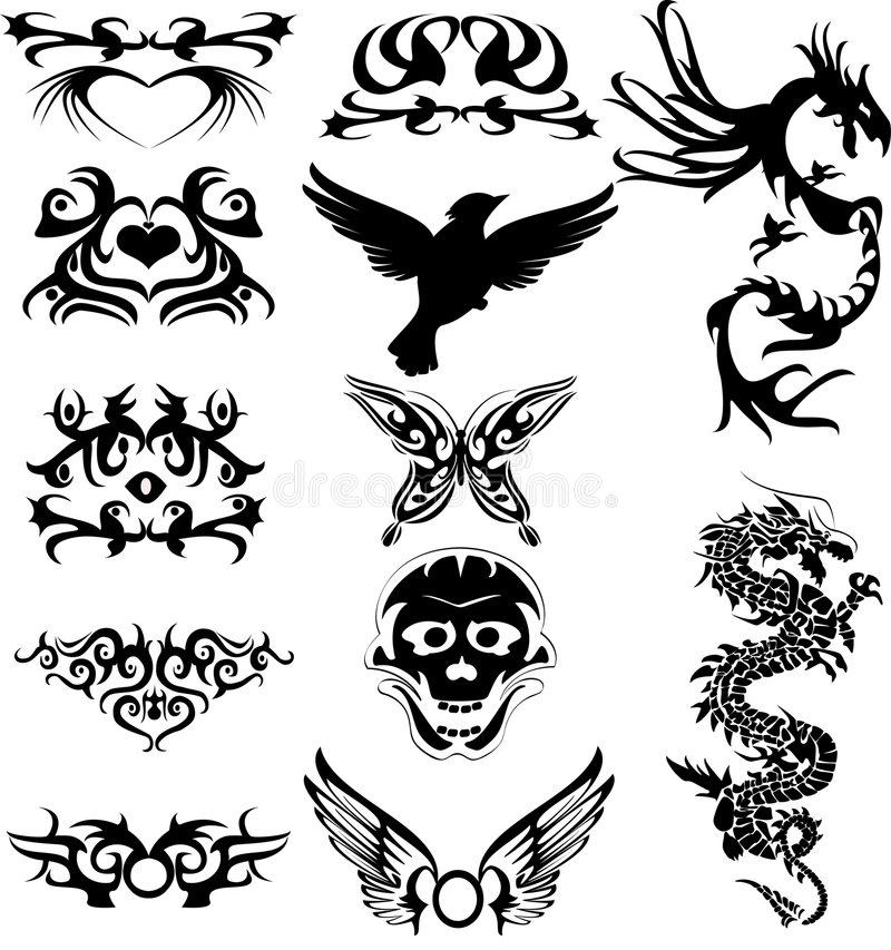 Tatouage de Maraming illustration libre de droits