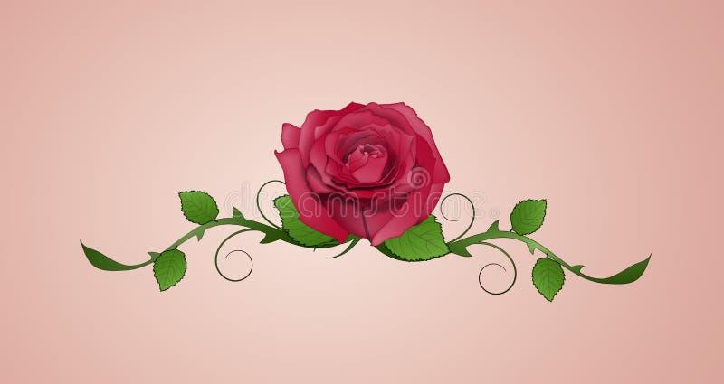 Tatouage de Rose illustration libre de droits
