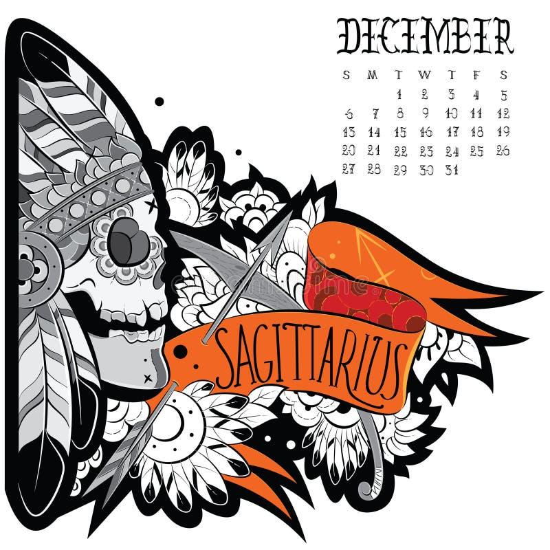 Tatouage de Sagittaire illustration stock