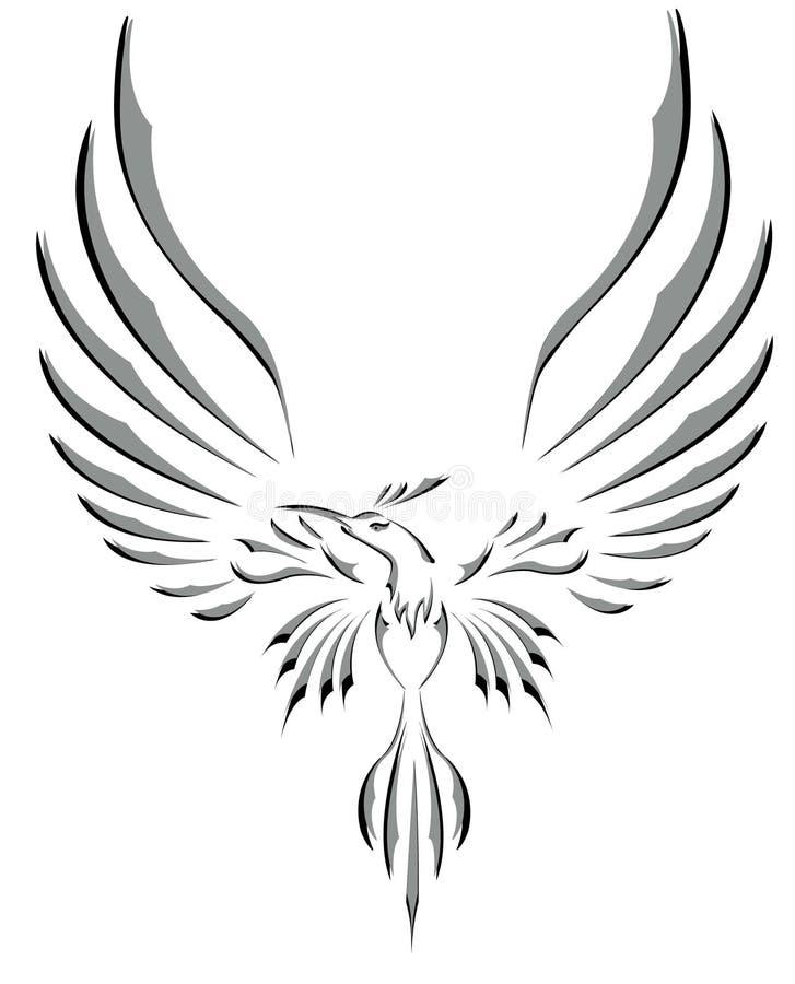 tatouage de symbole de libert oiseau de vol avec de grandes ailes illustration stock. Black Bedroom Furniture Sets. Home Design Ideas
