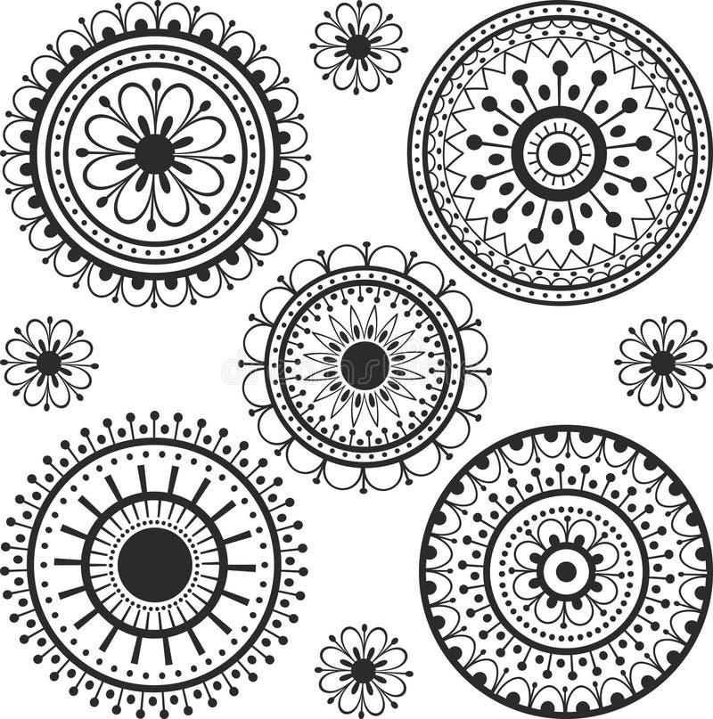 Tatouage en cercle illustration stock