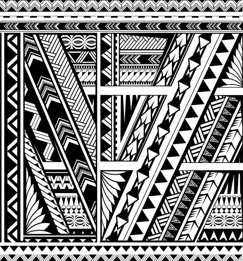 Tatouage ethnique polynésien de douille de style illustration de vecteur
