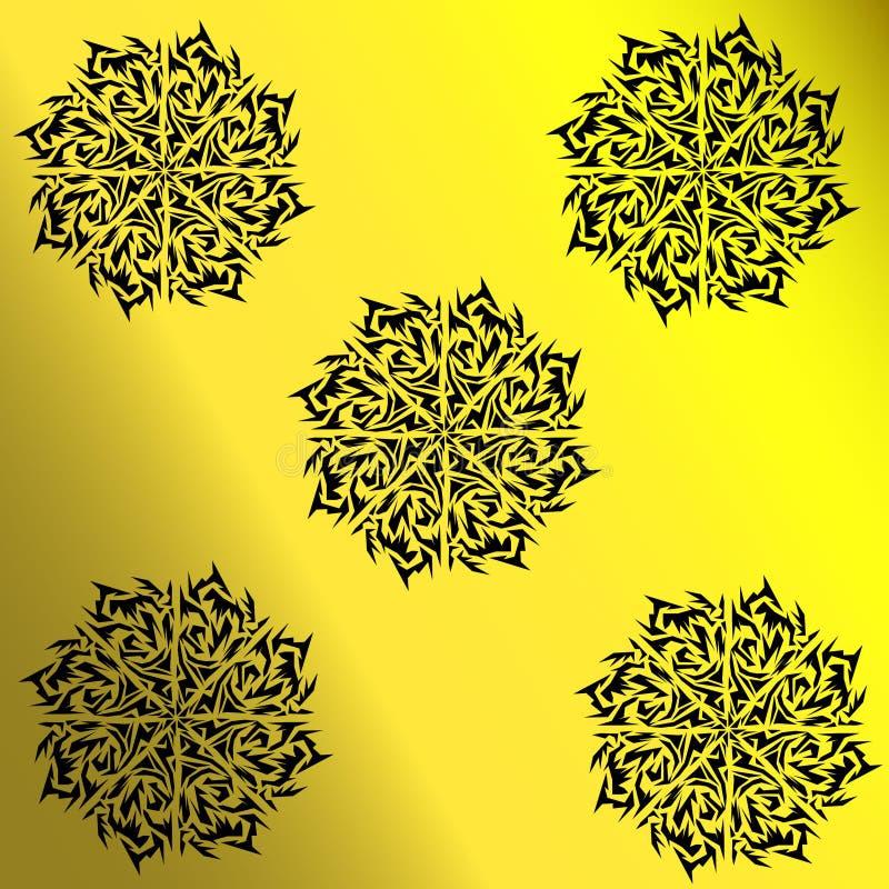 Tatouage noir illustration de vecteur