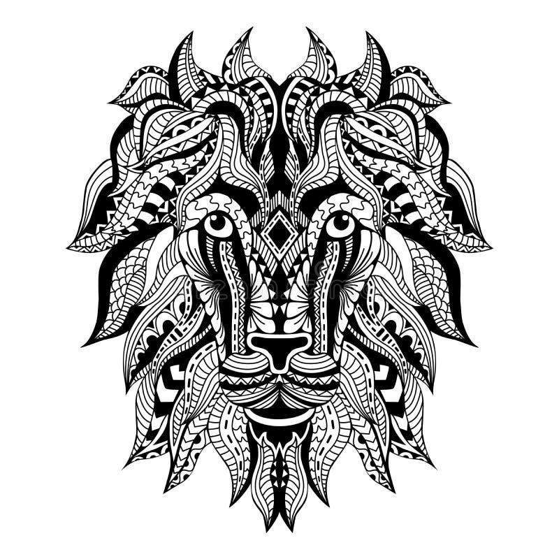 Tatouage ornemental Lion Head image libre de droits
