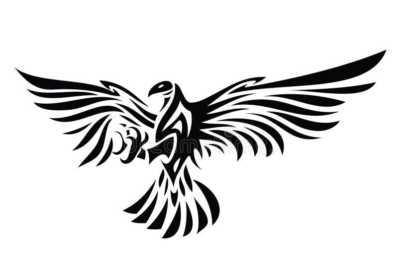 Tatouage tribal d'aigle illustration de vecteur