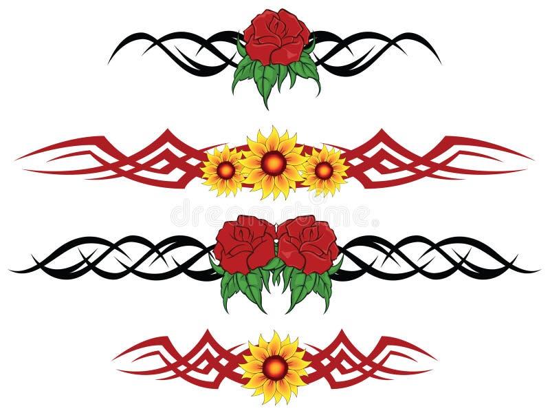 Tatouage tribal de fleur