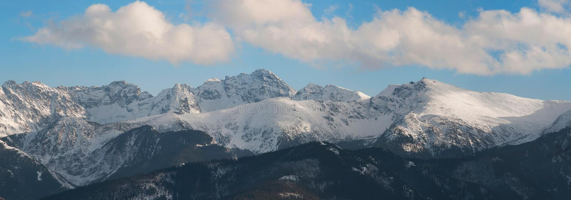 Tatra山全景  库存照片