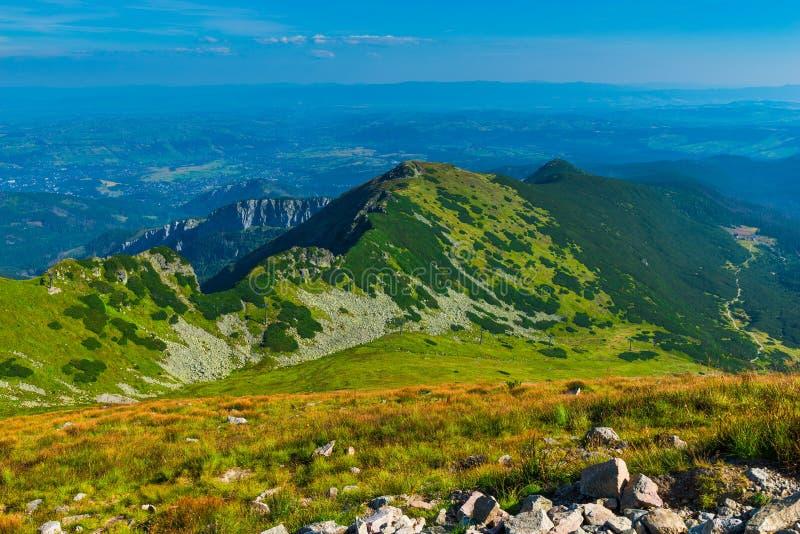 Tatra山的美好的风景风景 免版税库存图片