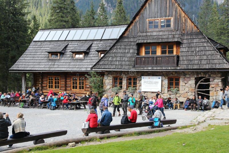 Tatra bergloge arkivfoton