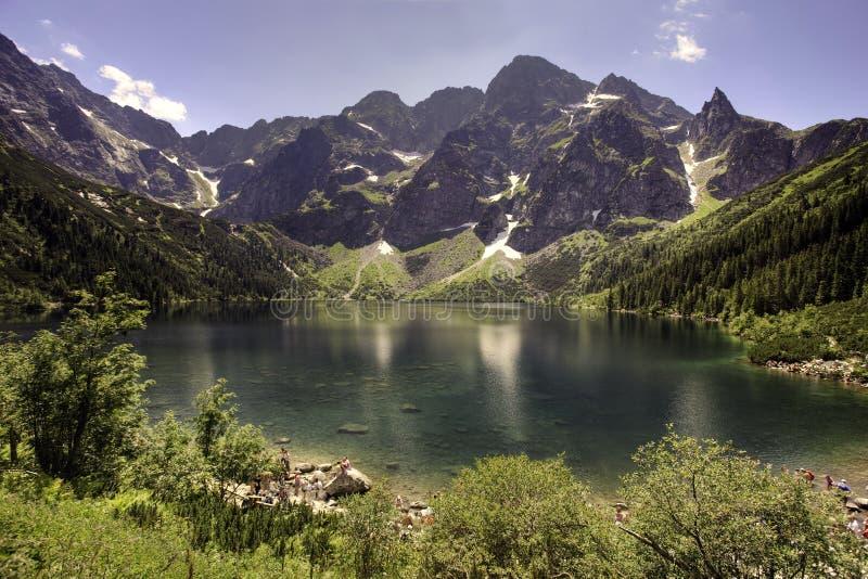 tatra de poli d'oko de montagnes de morskie de lac images libres de droits