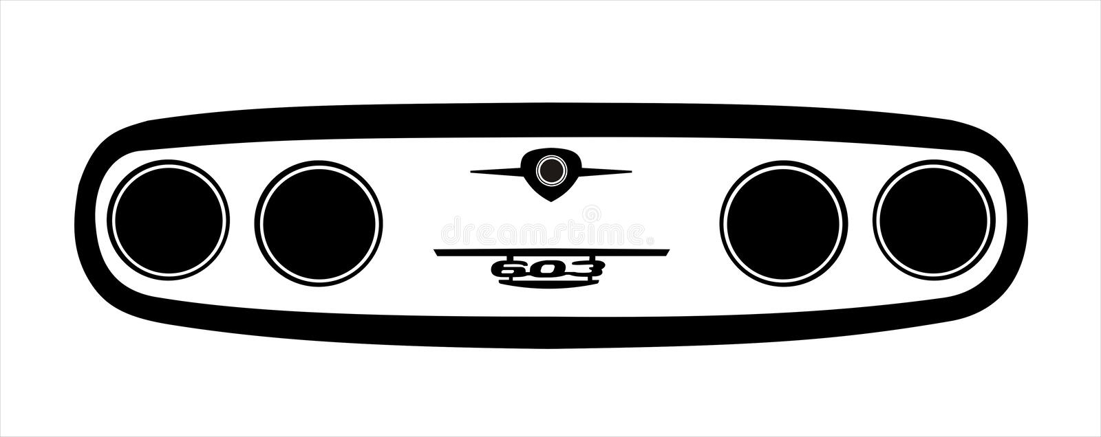 Tatra mask illustration royalty free stock image