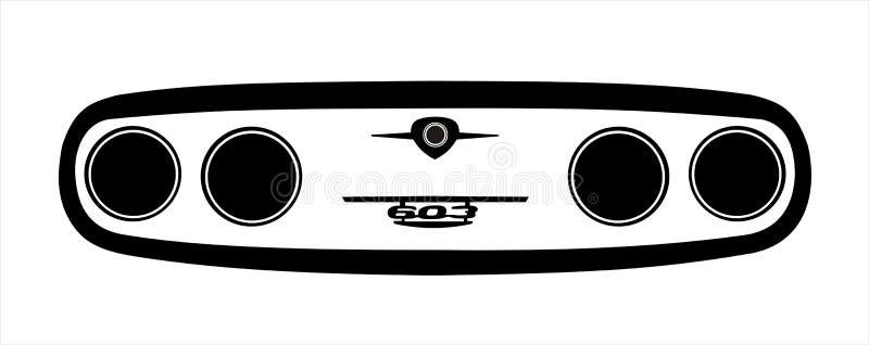 Tatra maskeringsillustration royaltyfri bild