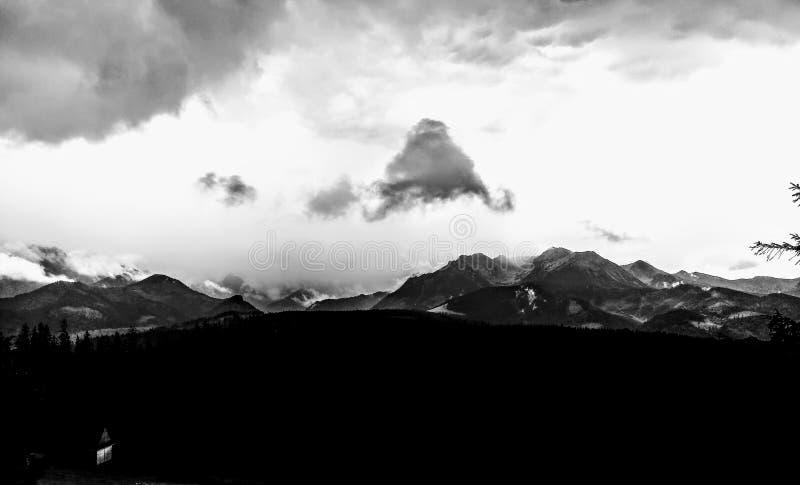 Tatra mountains from Glodowka royalty free stock photos