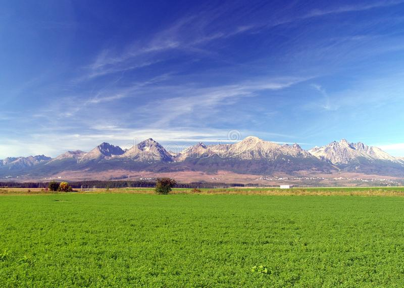 Download The Tatra Mountains & Green Field Royalty Free Stock Image - Image: 10990826