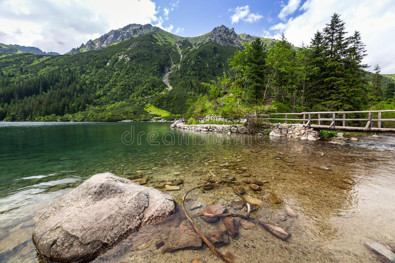 Download Tatra Mountains And Lake In Poland Stock Image - Image: 32164555