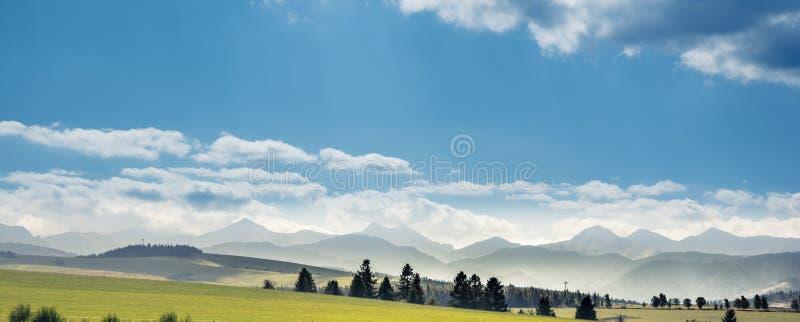 Tatra Mountains landscape in summer, Poland. Breathtaking mountains landscape stock photo