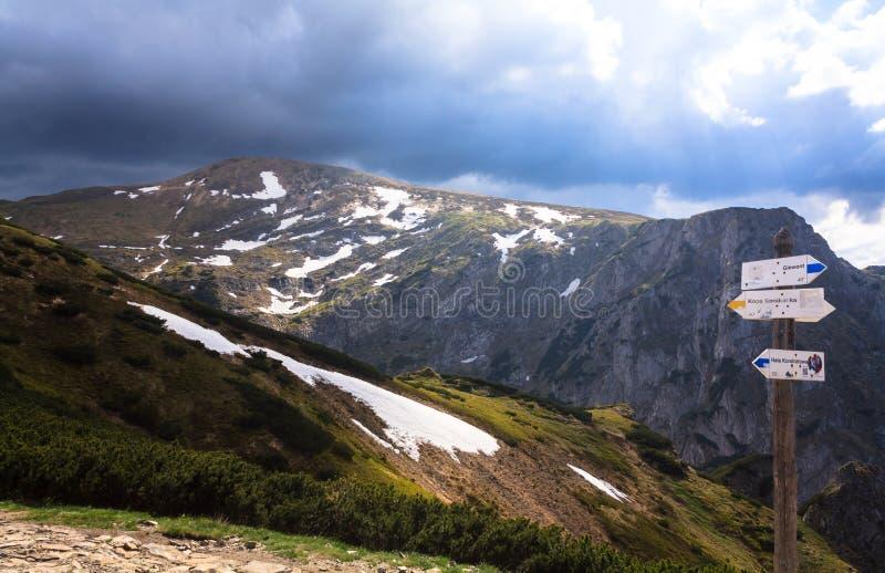 Tatra Mountains landscape. View on Czerwone Wierchy royalty free stock photo