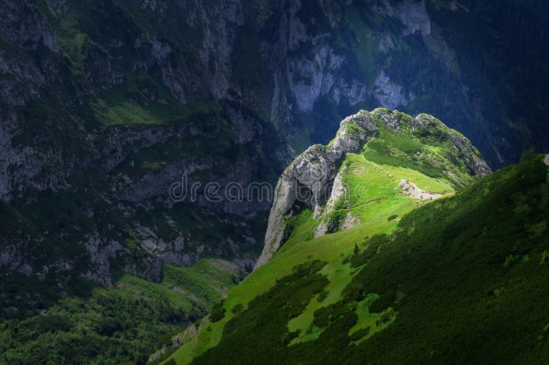 Tatra Mountains background. The Tatra Mountains, part of the Carpathian mountain chain in eastern Europe, create a natural border between Slovakia and Poland royalty free stock image