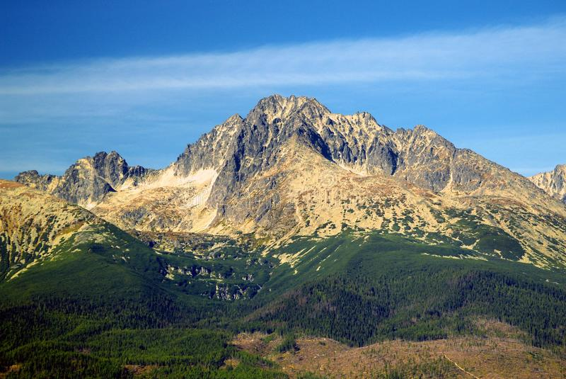 The Tatra Mountains in Summer. A view of The Tatra Mountains in summer, Slovakia stock photo