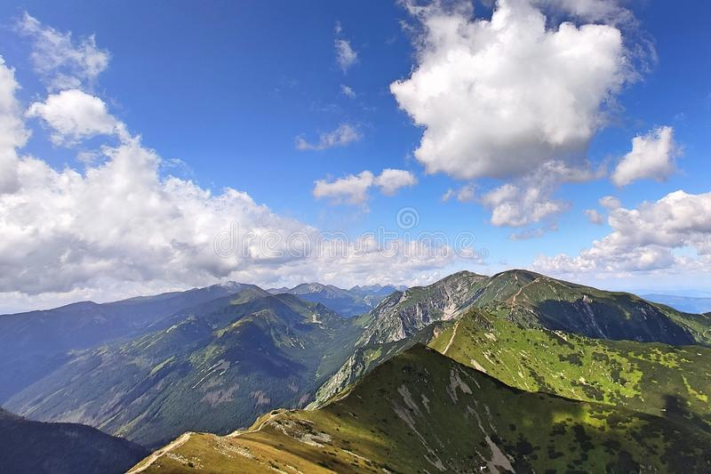 Tatra mountains. View from the top of Kasprowy Wierch mount. Tatra mountains. View from the top of Kasprowy Wierch royalty free stock photography