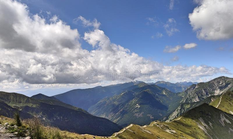 Tatra mountains. View from the top of Kasprowy Wierch mount. Tatry, Poland stock photos