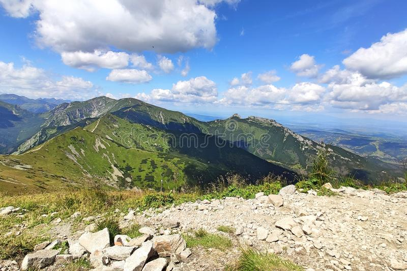 Tatra mountains. View from the top of Kasprowy Wierch mount. Tatry, Poland royalty free stock photo