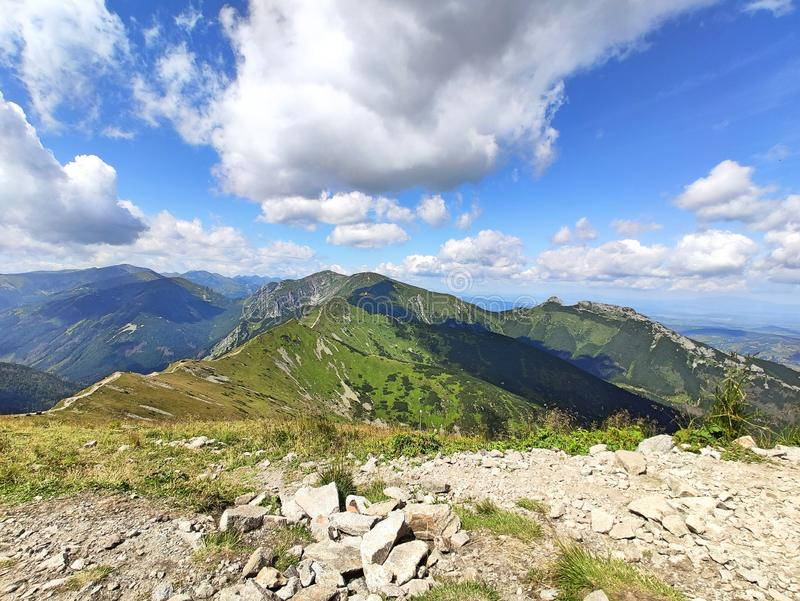 Tatra mountains. View from the top of Kasprowy Wierch mount. Tatry, Poland stock photography