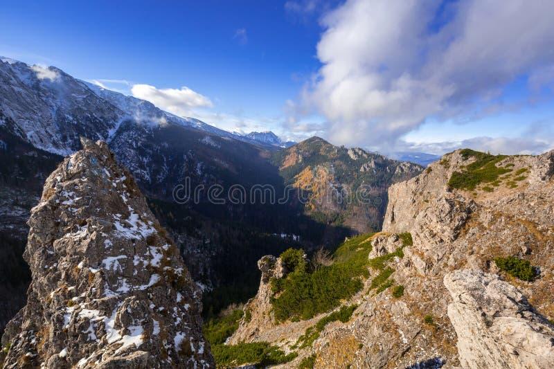 Tatra mountains at winter, Poland. Tatra mountains view from the top of Sarnia Skala peak, Poland stock photos