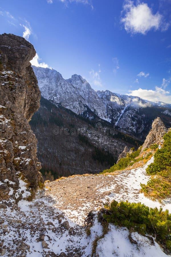 Tatra mountains at winter, Poland. Tatra mountains view from the top of Sarnia Skala peak, Poland stock images