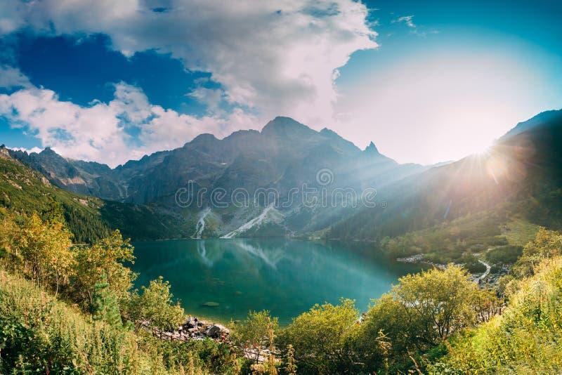 Tatra National Park, Poland. Famous Mountains Lake Morskie Oko O royalty free stock photos