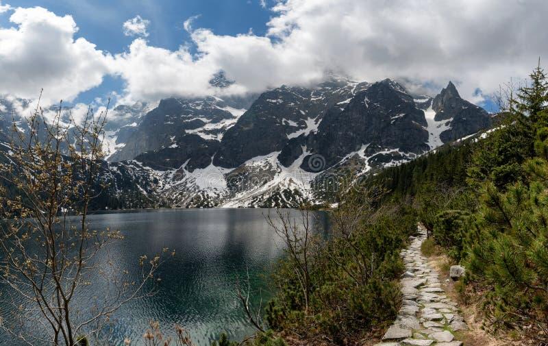 Tatra National Park, Poland. Mountains Lake Morskie Oko royalty free stock photo