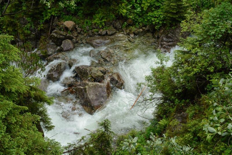 Tatra waterfall stock photos