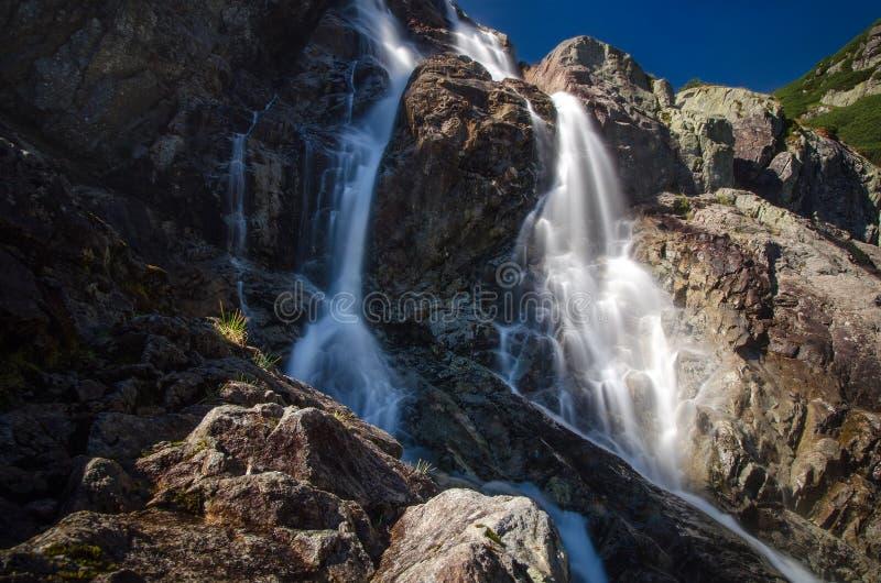 Tatra waterfall stock photography