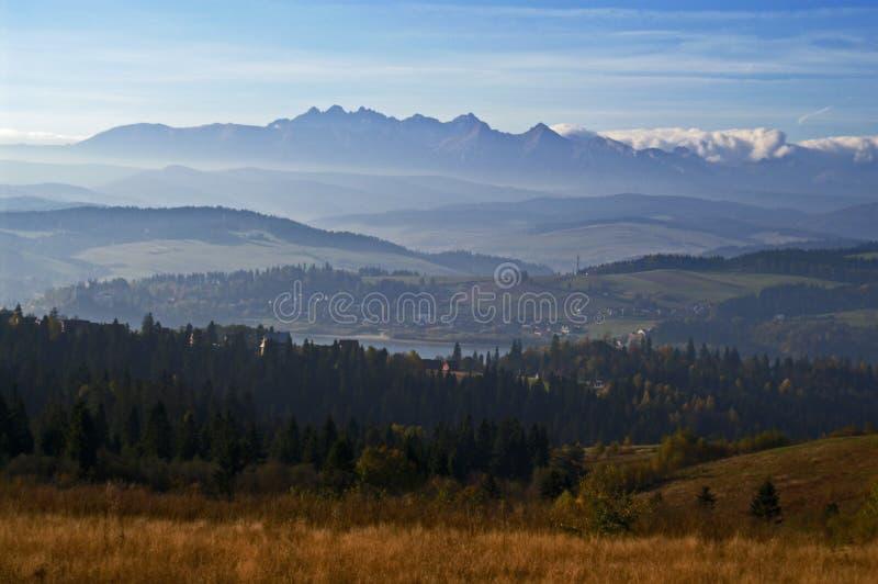 Tatras en meer 3 van Czorsztyn royalty-vrije stock foto's