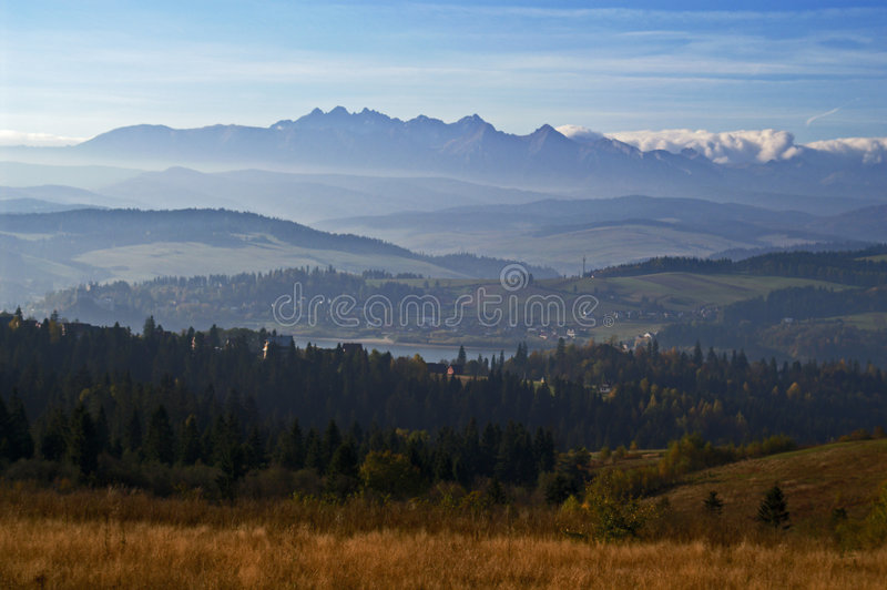Tatras et lac 3 Czorsztyn photos libres de droits