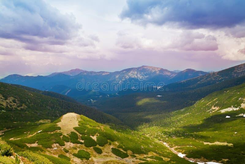 Tatras inferior foto de archivo libre de regalías