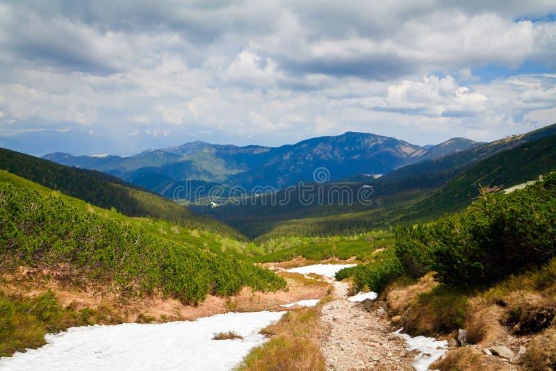 Tatras inferior en resorte foto de archivo