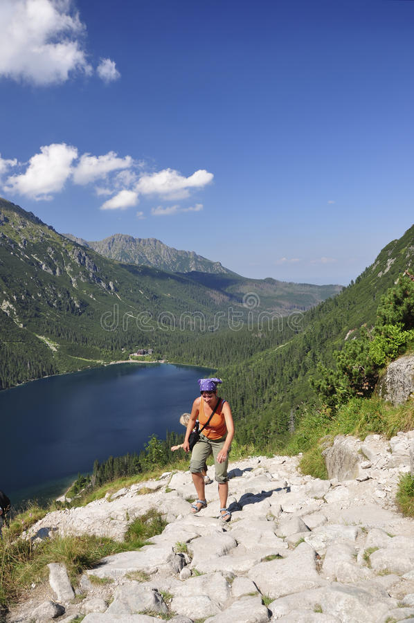 Download Tatras - Sea Eye, Girl Climbing Royalty Free Stock Photography - Image: 11580397