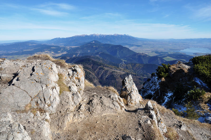 Tatry mountains. Panoramic view from Velky Choc royalty free stock images