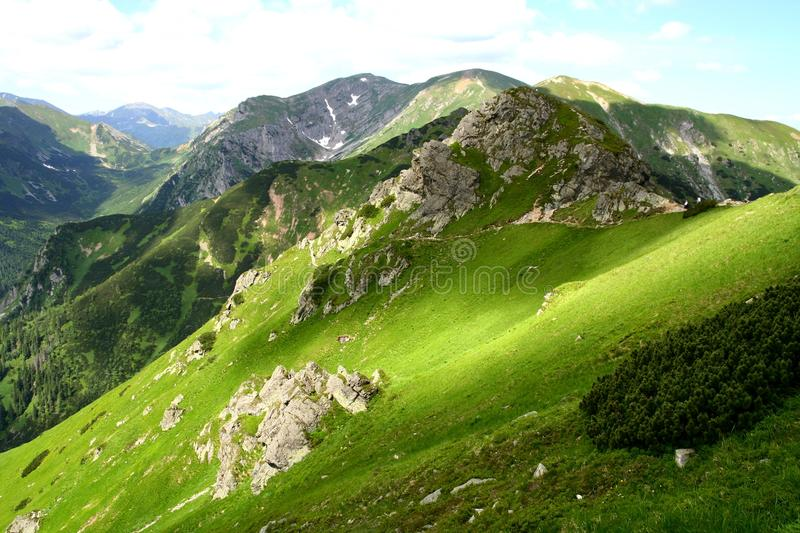 Tatry mountains. In the south of Poland stock photo