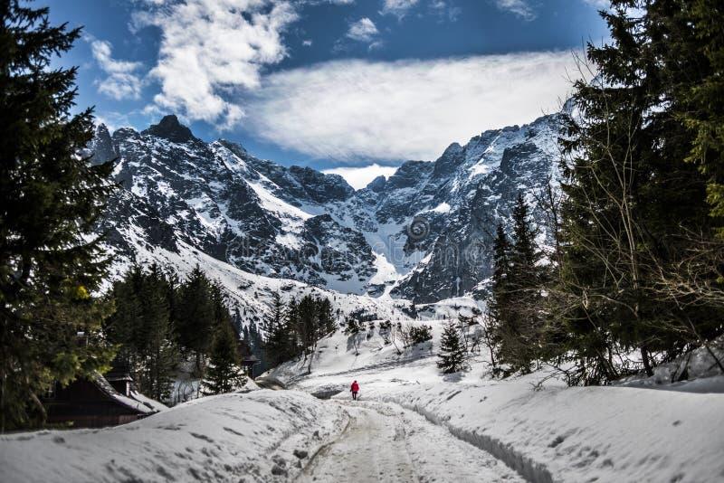 Tatry, Polsih-de tijd van de bergenwinter polen stock afbeelding