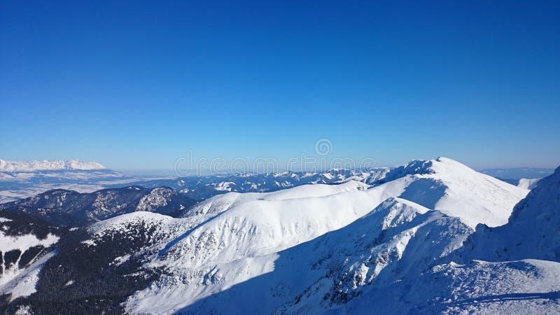 Tatrzańskie góry - zima fotografia royalty free