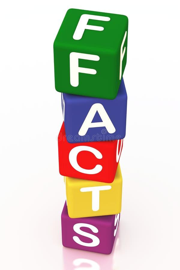 Tatsachen vektor abbildung