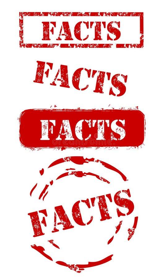 Tatsachen-Stempel-Set lizenzfreie abbildung